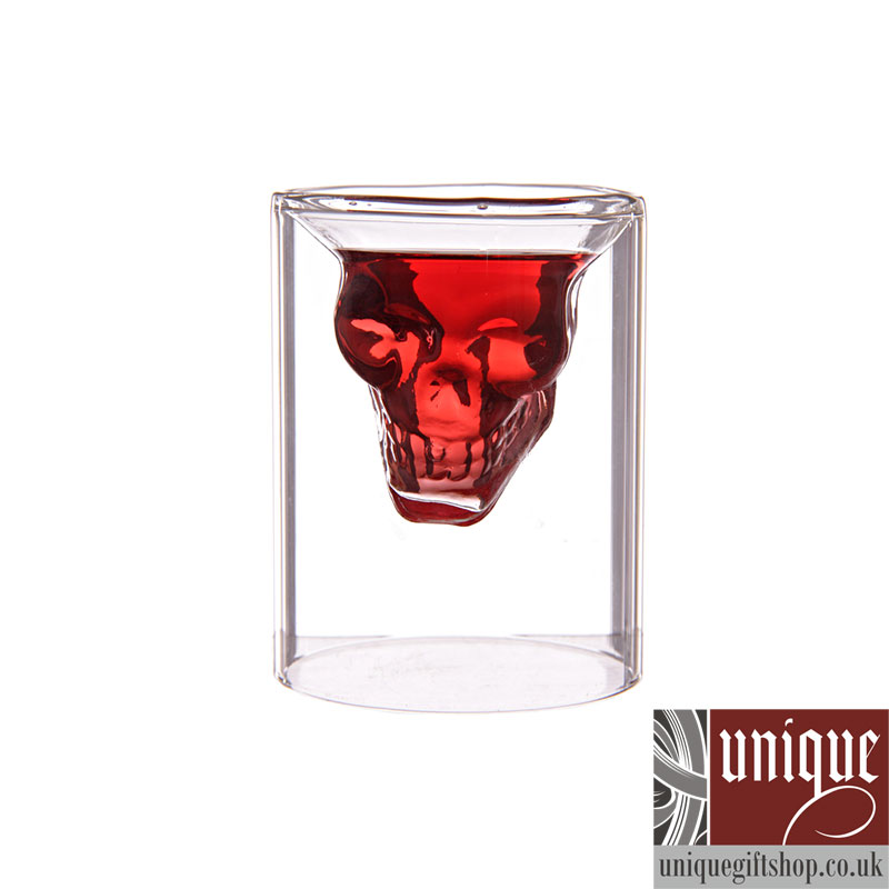 creative scary skull design cup shot glass 1