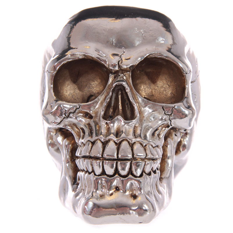 silver skull money box image 02