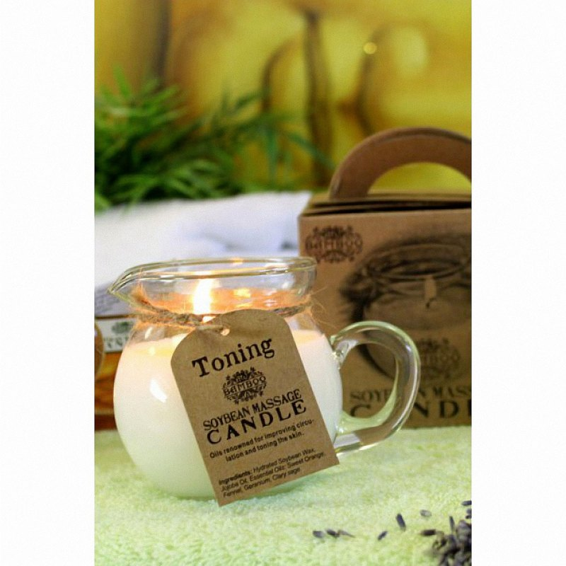 soybean massage candle image