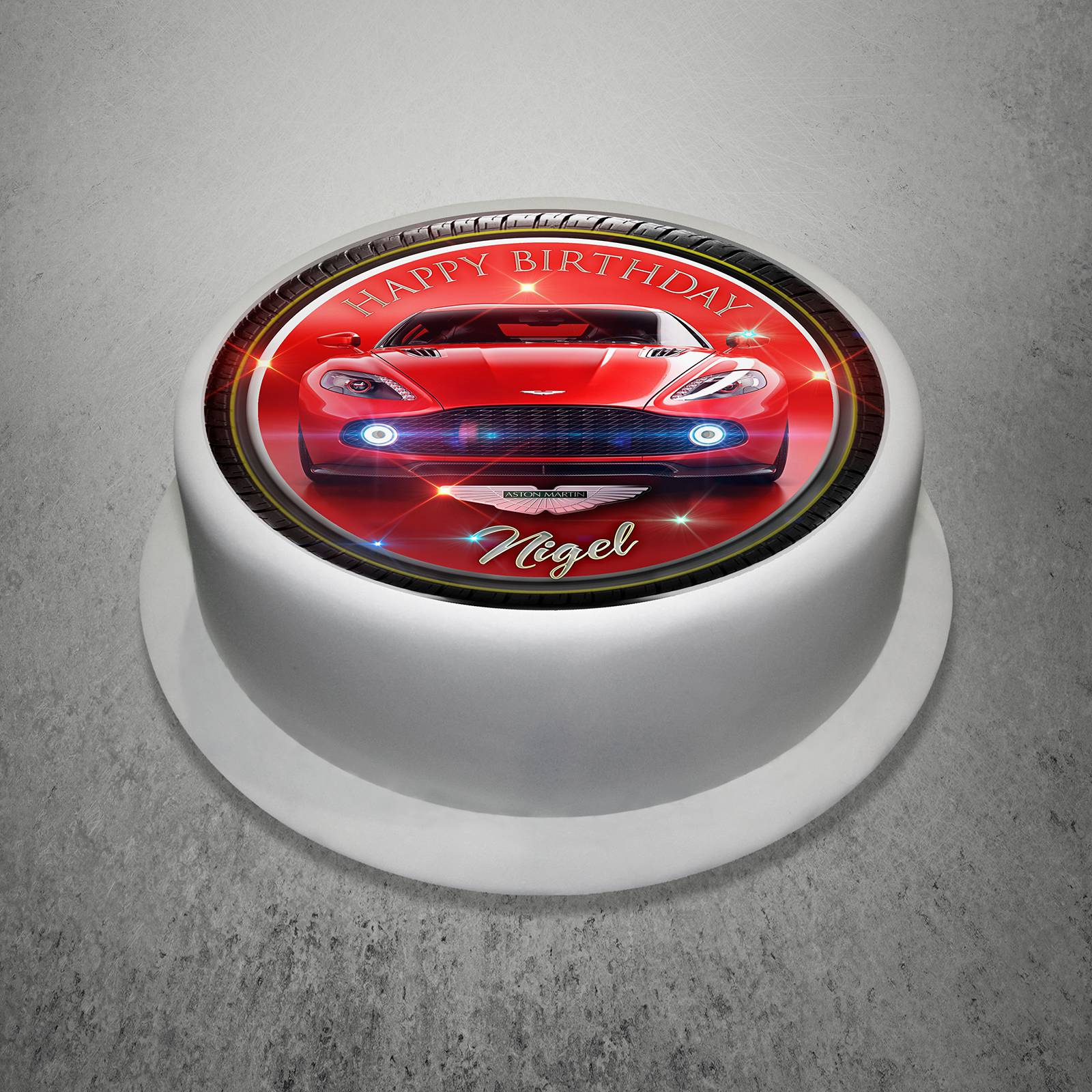 Unique Gift Shop London Personalised Aston Martin Edible Icing