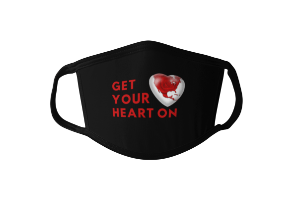 get your heart on face mask, heart on face mask, heart face mask, valentines day face mask, cloth face mask, funny valentines day face mask, galentines day face mask, heart mask, heart on mask, valentines day mask