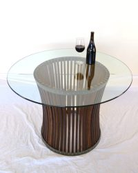 Wine Barrel Dining Table -Concave- 100% Recycled  Unique ...
