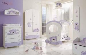 クマのキャラクターだらけの子供部屋
