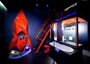 宇宙空間が満喫できるバスルーム