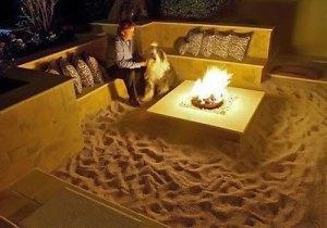 砂浜のあるお家