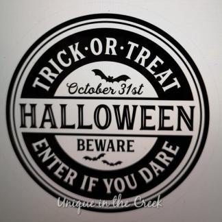 Halloween vinyl decal trick or treat