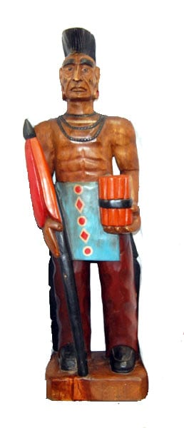 Hand Carved Native American-