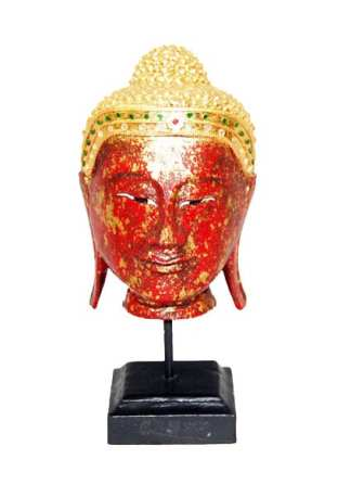 Head of Buddha-Red