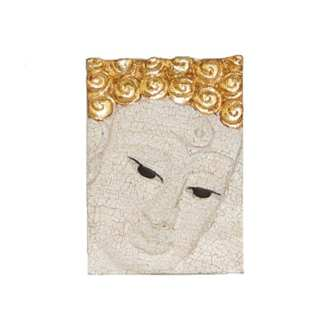 Face of Buddha in White
