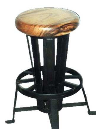 Iron Base Solid Wood Seat