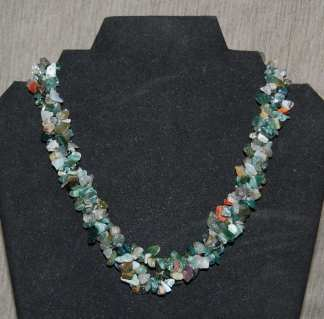 Unakite Chip Necklace