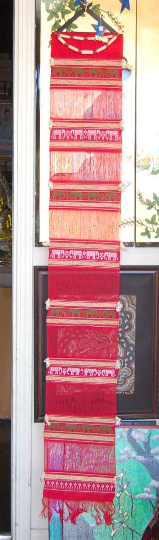 Hanging Thai Wall Fabric Red