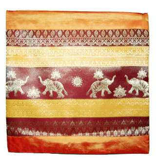 Yellow Red Elephant Pillow Case