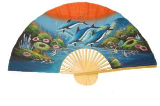 Hand Painted Fan J-F-35-17