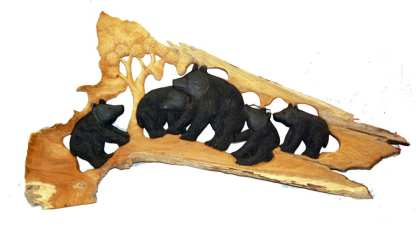 Bear Relief Carving J