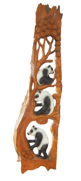 Carved Panda Bears