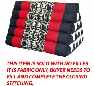 Triangle Pillow Black & Red Ele