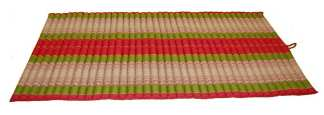 Rollable Mattress Red and Green