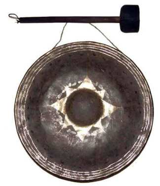 Medium Bronze Gong No Stand