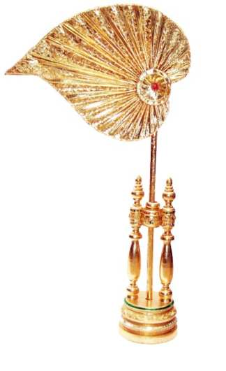 Thai Buddhist Ceremonial Fan M-