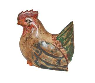 Wooden Brown Rooster