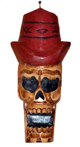 Skull with Red Hat