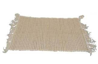 Cream-Brown Cotton Placemat