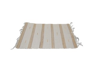 Cream-White Brown Cot Placemat