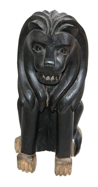 Black Wooden Lion