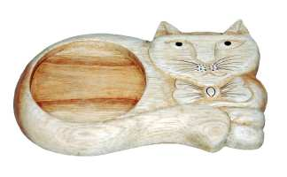 Wood Cat Drink Coaster
