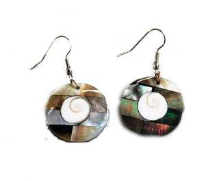 Circle Sea Shell Earring