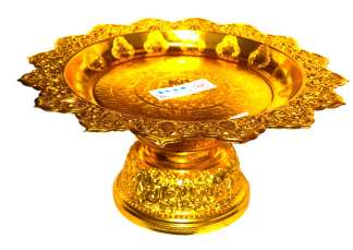 Gold Finish Serving Stand-14