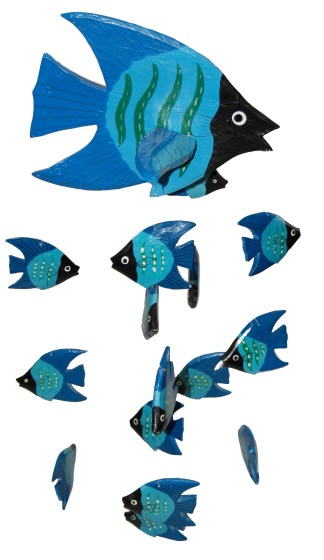 Fish Mobile Blue Black Face