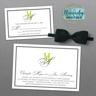 Black Tie Affair Invitation Set