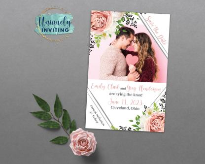 Roses and Berries Save the Dates