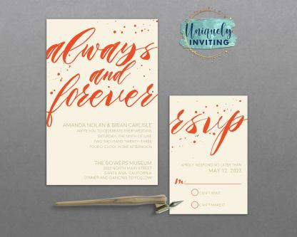 Always and Forever Invitations