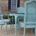 Of provence chalk paint in the grooves around the table and chairs