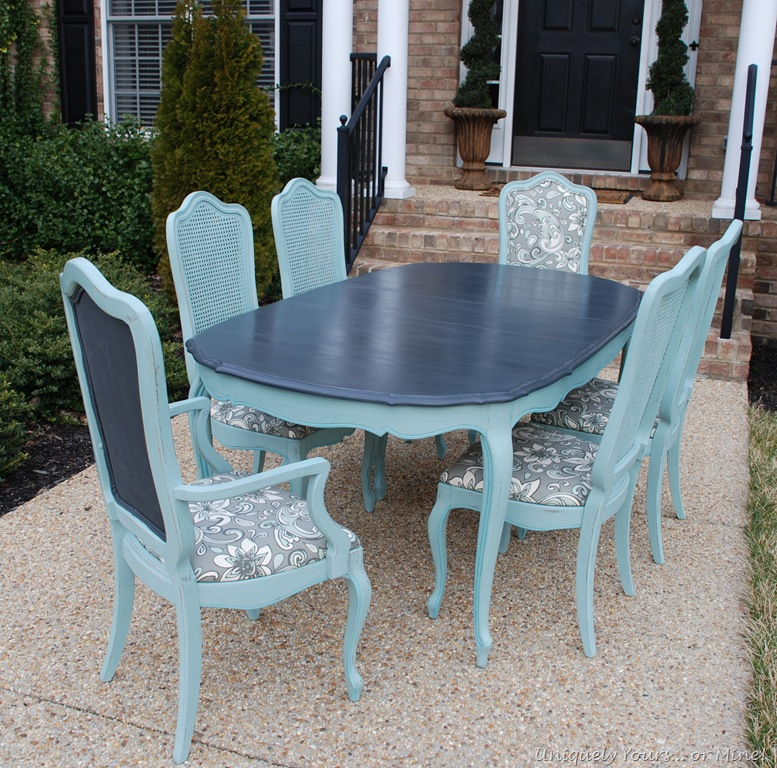 painted tables and chairs baby floor chair lets try this again uniquely yours or mine vintage french thomasville dining table