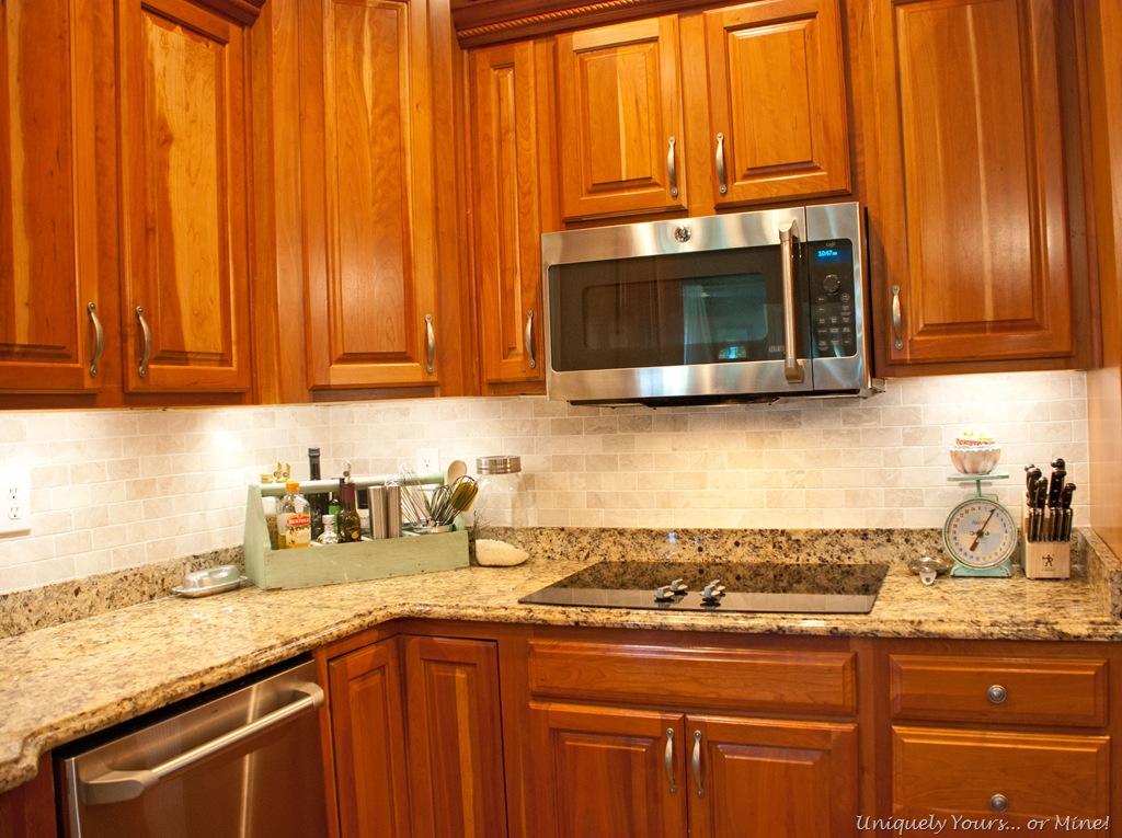 Kitchen Updates Tile Lights Paint  Uniquely Yours