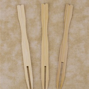 "3.5"" Bamboo Fruit Fork"