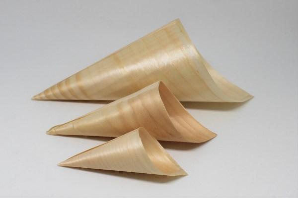 Wooden Serving Cones - 3 Sizes