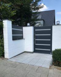 door flat dark grey with white spacer