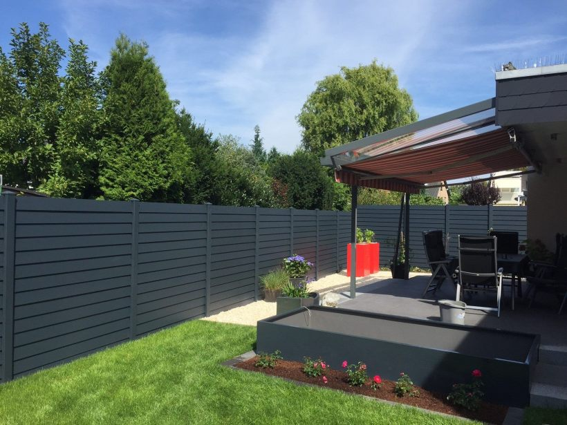 project louvre dark grey and pergola