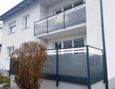 balcony glass and rhombus white
