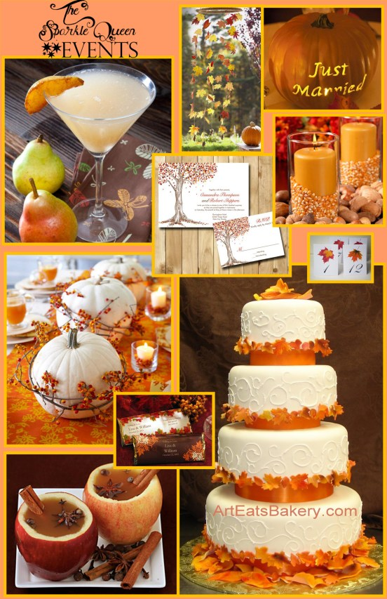 A Simple and Elegant Fall Wedding Originally found on this post: http://sparklysharpandfabulous.blogspot.com/2012/10/a-simple-and-elegant-fall-wedding.html