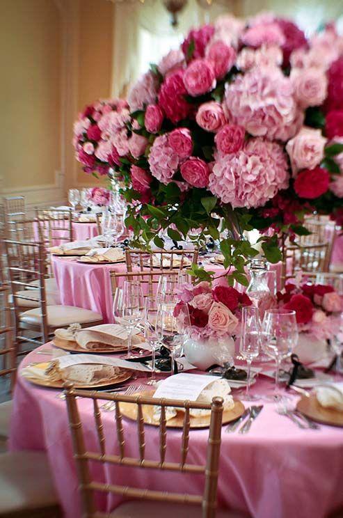 Hot Pink  Gold Ladies Luncheon  Unique Pastiche Events