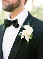 Magnolia Boutonniere – shared on Snippet and Ink