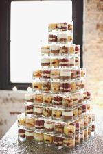 Mini Dessert Shot Glass Station Display – shared by Brooklyn Bride