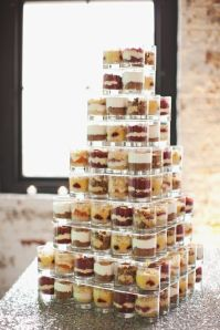 Mini Dessert Shot Glass Station Display – shared by Brooklyn Bride