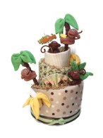 Monkey Jungle Diaper Cake Decor – created and sold by PrincessAndThePbaby on Etsy